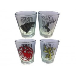 Set 4 Verres Shooter Games of Thrones